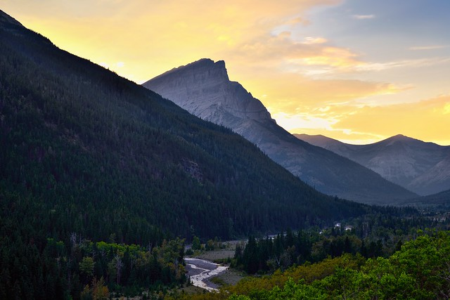 Sunset in the Canadian Rockies