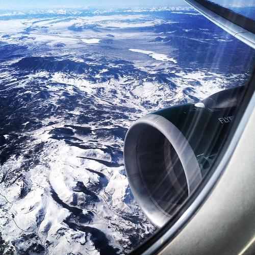 travel snow mountains plane denver