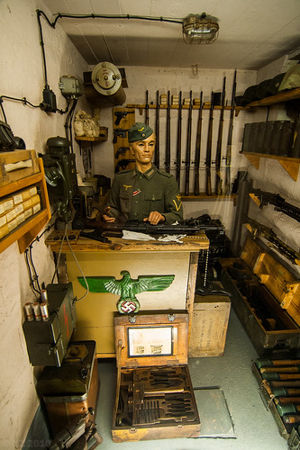 Weapons Chamber  - German Bunker -Atlantic Wall Museum, Ouistreham, Normandy