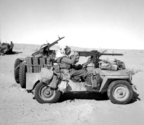 jeep in desert