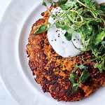 Carrot Pancakes with Salted Yogurt Recipe