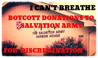 BOYCOTT Donations & Funding to Salvation Army