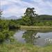 ため池と浅間(御牧ケ原)