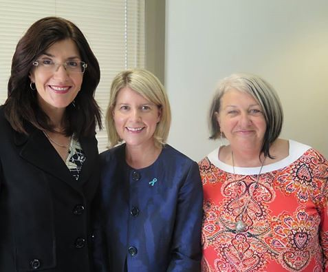 Jacquie with Ms Natasha Stott-Despoja AM, and Liz Little, CEO, Sexual Assault Support Service | by jacquiepetrusma