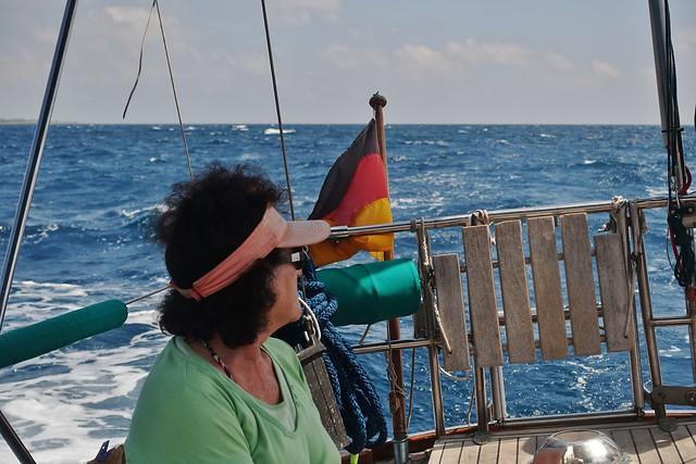 Gerdi bei starkem Wind