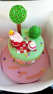 Stupendous Peppa Pig Birthday Cake By Jacqueline Pua Amazing Cake Ideas Birthday Cards Printable Inklcafe Filternl