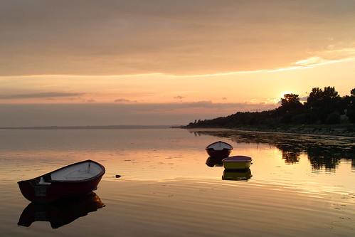 sunset sea boats day cloudy poland baltic hel foveon kuźnica thisphotorocks worldtrekker sigmasd15