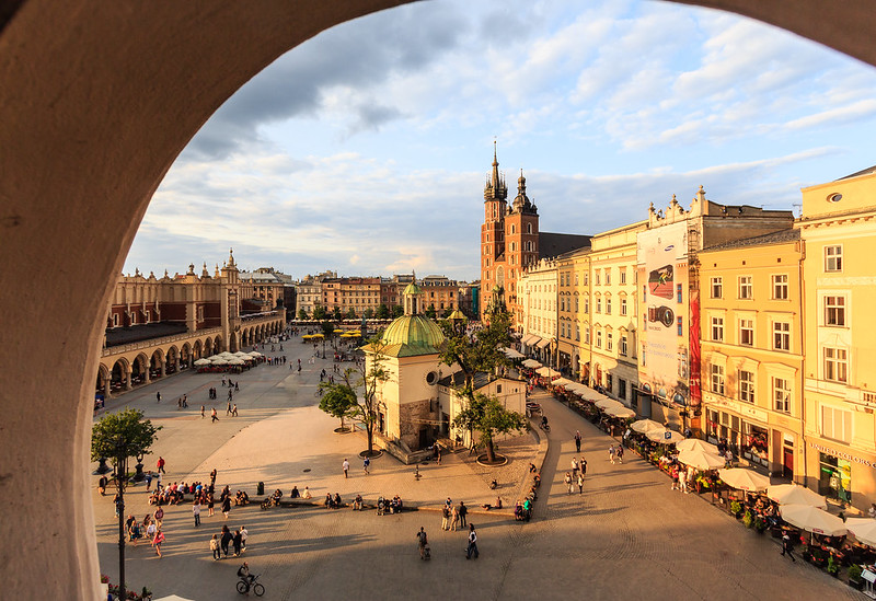 Kraków's Main Square (Rynek Główny w Krakowie), Poland (UNESCO world heritage site)