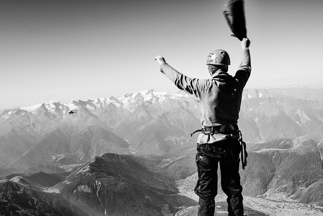 Moment of Relief on Ushba (4710m, Caucasus)