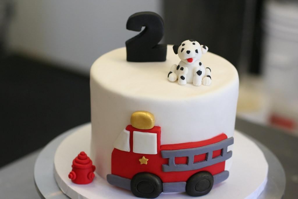 Admirable Fire Truck Birthday Cake Cute Firetruck Birthday Cake For Flickr Birthday Cards Printable Benkemecafe Filternl