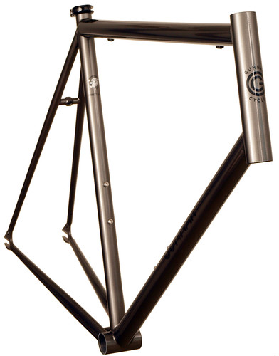 <p>Gunnar Street Dog  road fixed gear in Charcoal with Bullseye Decals</p>