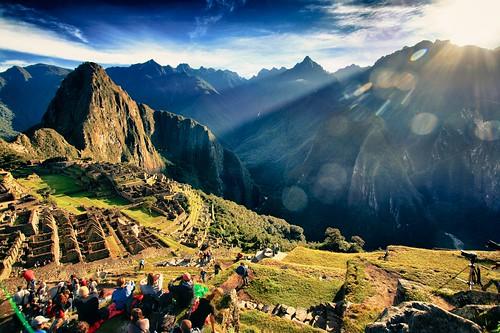 travel mountain history tourism peru inca sunrise landscape culture unesco archeology