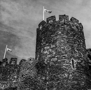 Conwy Castle with Agfa Isolette