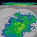 Meteorologický radar – měření potvrzují výskyt výrazných srážek, reálné srážkové úhrny se shodují spředpovědí podle obou modelů, foto: www.wetterzentrale.de
