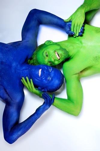 Opposites attract Gay Bodypainter | by humanstatuebodyart