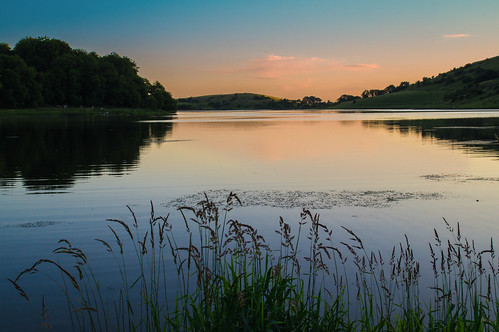 sunset summer lake reflection water landscape elements louchgur