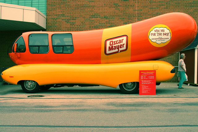 Oh, I'd love to be an Oscar Mayer Wienermobile