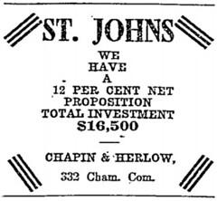 Cahpin & Herlow ad 1910