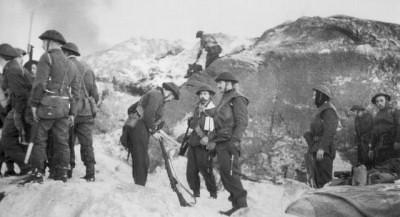 Comandos britanicos en la isla de Maaloy
