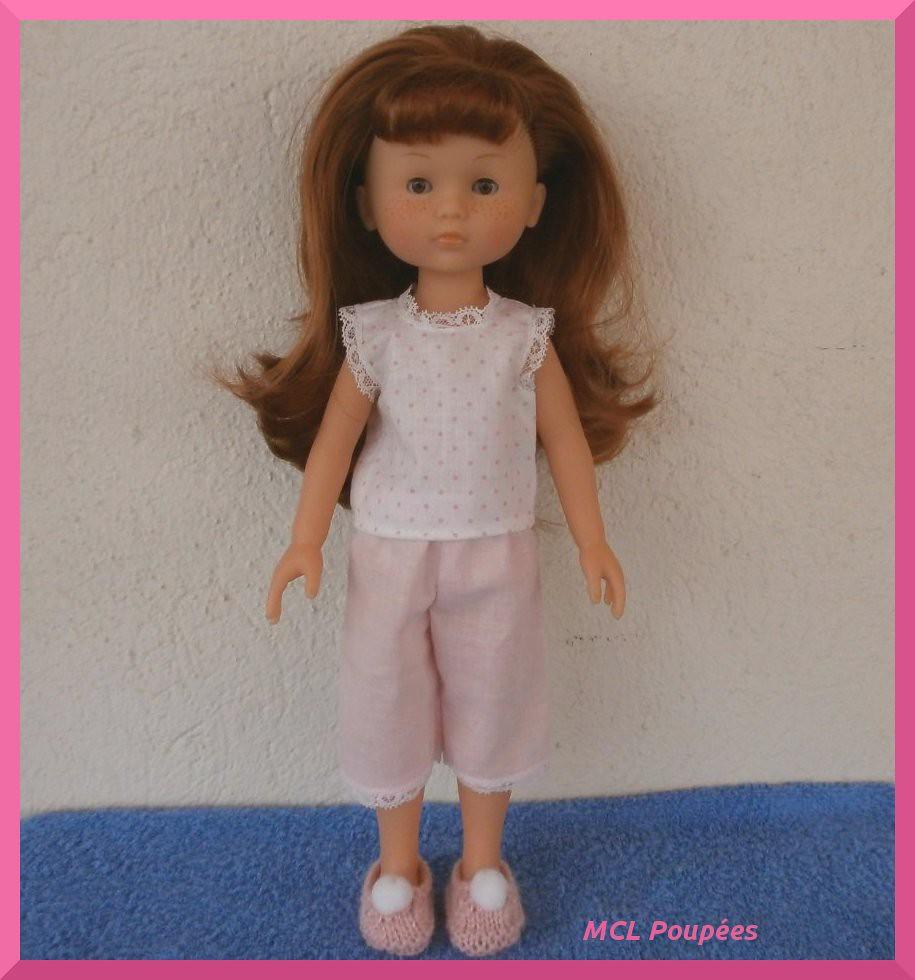 ebc55e379ec Pyjama court rose pour poupée Chérie | www.alittlemarket.com… | Flickr