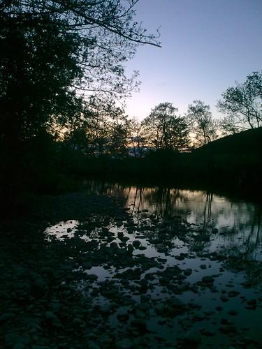 sunset dumfriesshire riverannan