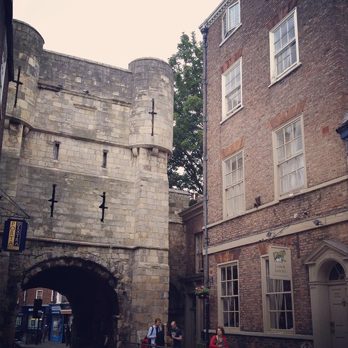 Bootham Bar, and the Lmab and Lion Inn, where we had a pint | by Texarchivist