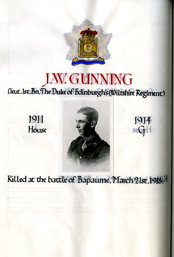 Gunning, John Walter (1897-1918). | by sherborneschoolarchives
