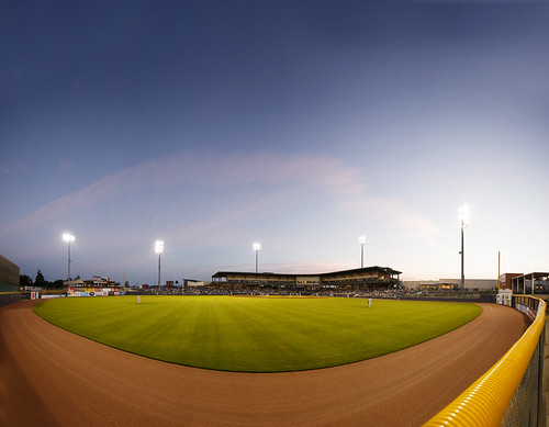 sunset usa baseball panoramic ms pearl aa minorleague southernleague