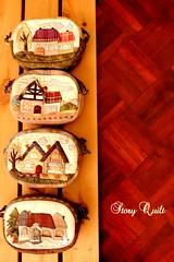 Handmade Pouch Little House pouch series