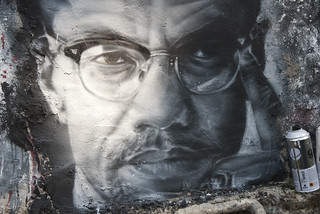 Malcom X, painted portrait DDC_8711 | by Abode of Chaos