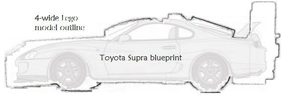 Toyota Supra 4 wide outline