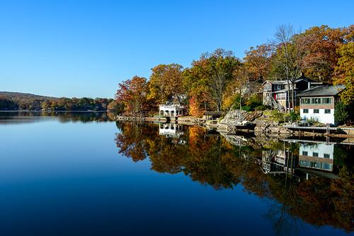 lake reflection water fallcolor fallfoliage