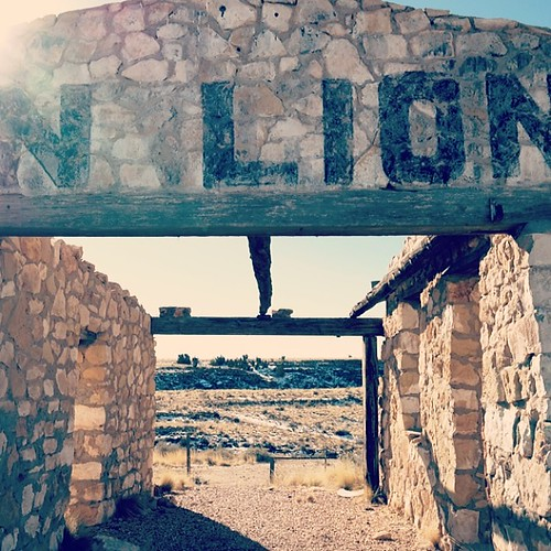 Remnants Of An Old, Abandoned Zoo In Two Guns, AZ. This #z