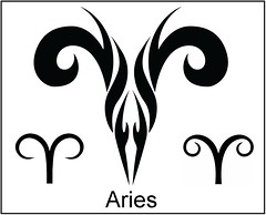 some symbols for the zodiac Aries