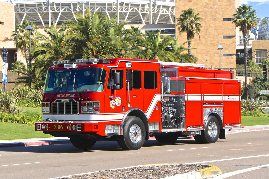 San Diego County Fire Dept  | Ferrara pumper from the San Di