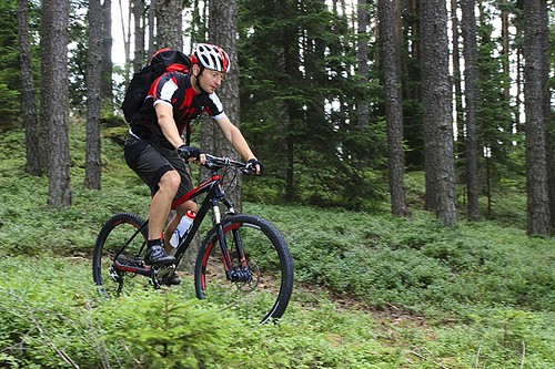 Mountain Biking on Vancouver Island, British Columbia, Canada.
