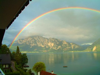 Rainbow on the Attersee
