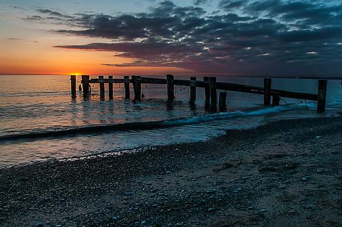 50point sunrise abandoned pier lakeontario beach water clouds color nikon18200mmvriiafs nikon topaz topazadjust waves greatlakes grimsby niagara hamilton knarrgallery darylknarr knarrphotography