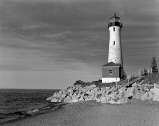Crisp Point Lighthouse 4x5 | by Bronica John