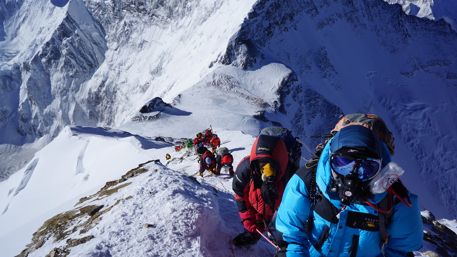 photo of climbers on everest