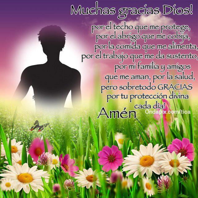 Postal Con Flores Y Mensaje De Agradecimiento A Dios Flickr