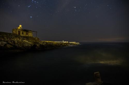starry coastal night