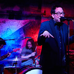 Wed, 26/03/2014 - 10:23pm - The Hold Steady on release day for Teeth Dreams, at Hill Country BBQ in NYC, with an audience of WFUV Marquee Members. Hosted by Dennis Elsas. Photo by Gus Philippas.