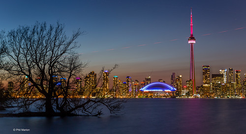 Long exposure and silhouette - Toronto harbour and skyline | by Phil Marion (182 million views - THANKS)