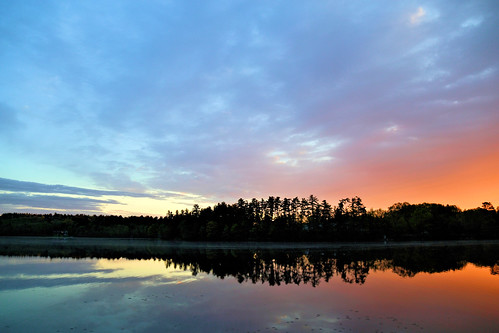 morning sky sun nature water beauty sunrise canon reflections eos pond south newengland newhampshire calm clear salem tranquil pelham 6d 366 24105mm day140366 harrispond 366the2016edition 3662016 19may16