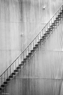 Oil tank stairs | by Phil Marion