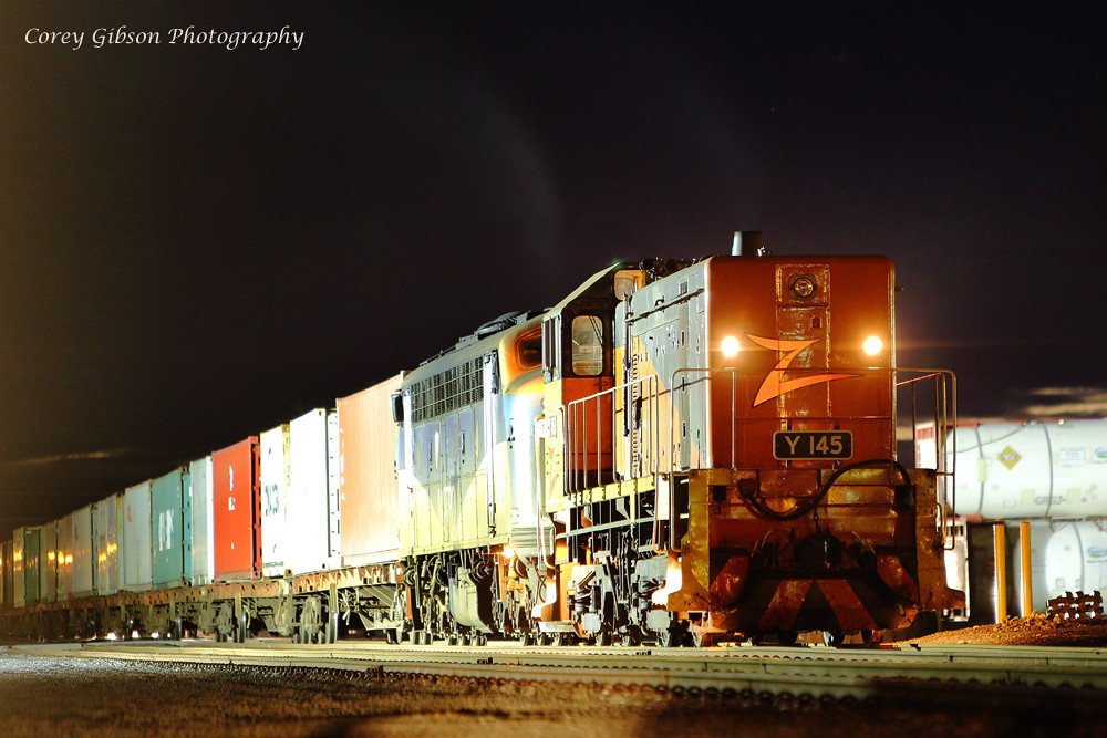 Y145 at Warrnambool container yard by Corey Gibson
