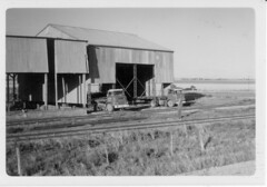Ira Jenkin moves an unused Wheat Storage shed from the Calomba Railway Siding.