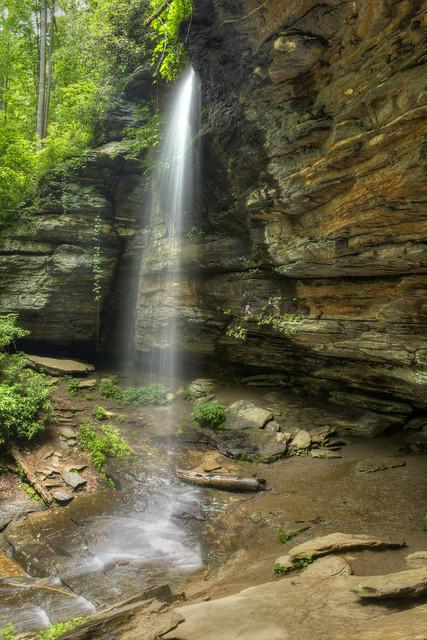 Moore Cove Falls, Pisgah National Forest, Transylvania County, North Carolina