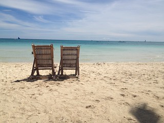 Chairs on White Beach Boracay | by ToGa Wanderings